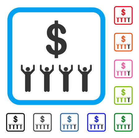 Dollar Religion icon. Flat grey pictogram symbol inside a light blue rounded rectangle. Black, gray, green, blue, red, orange color versions of Dollar Religion vector. Designed for web and app UI. Banco de Imagens - 88171793