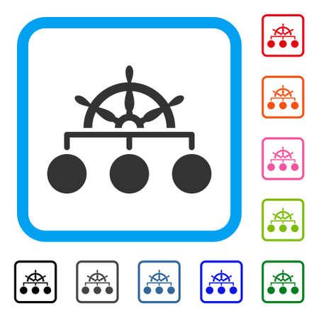 Ship wheel hierarchy icon. Ilustrace