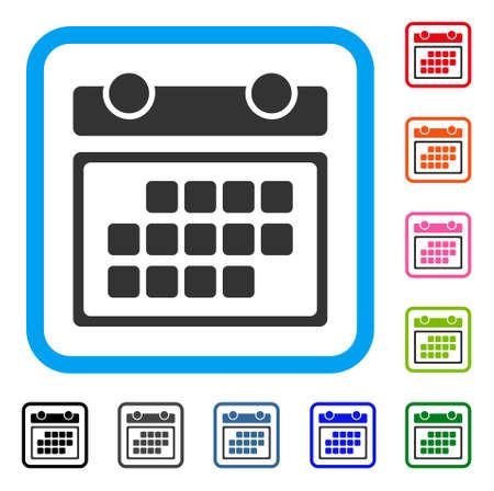 Month Calendar icon. Illustration