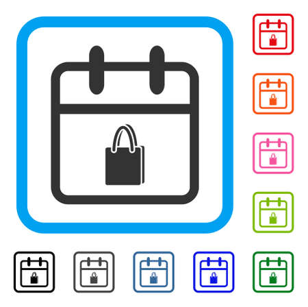 Shopping day icon.