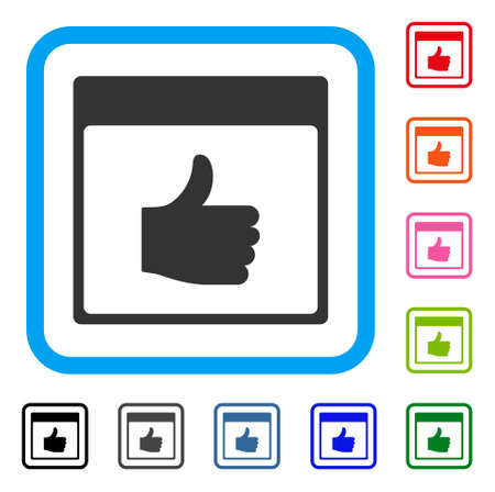 Thumb up calendar page icon.
