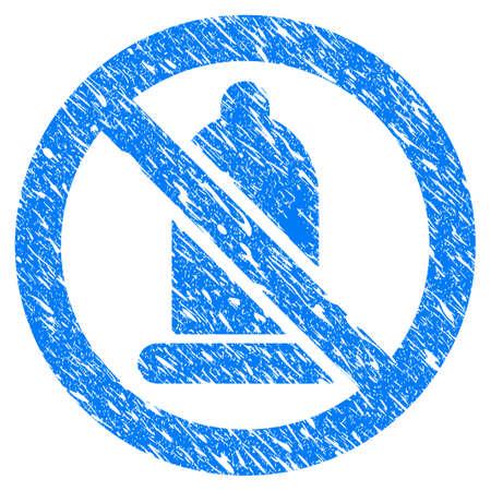 Grunge Condom Forbidden icon with grunge design and dust texture. Illustration