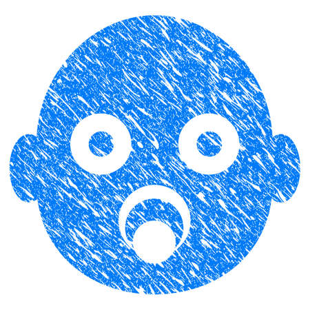 baby seal: Grunge Baby Head icon with grunge design and dust texture.