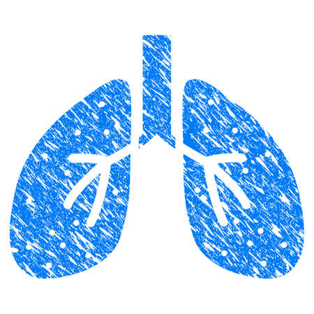 Grunge Lungs icon with grunge design and dirty texture. Illustration