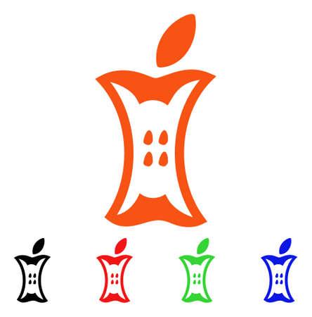 Cono de Apple Stump. Foto de archivo - 88247478
