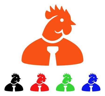 Chicken Manager icon. Illustration