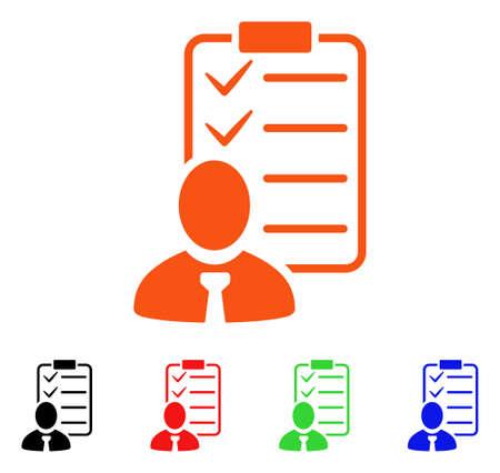 administrador de empresas: Icono de la lista de verificación del administrador.