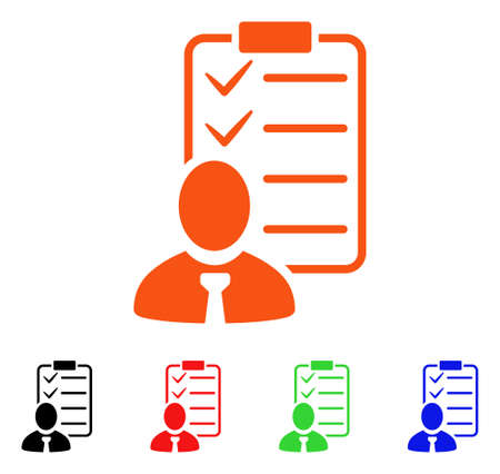 Manager Check List icon. Illustration