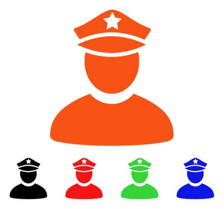 Policeman icon Illustration