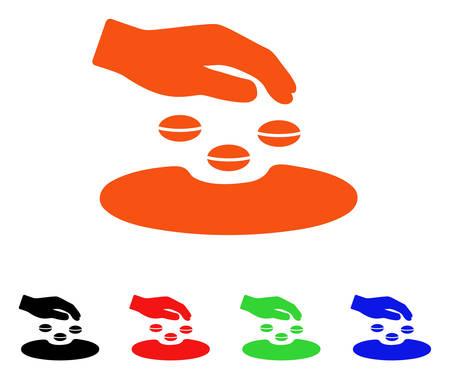 """Symbol """"Saatgut"""". Vektorillustrationsart ist ein flaches ikonenhaftes Sauensamensymbol mit schwarzen, orange, roten, grünen, blauen Farbversionen. Entwickelt für Web-Apps und Software-Schnittstellen. Standard-Bild - 88247864"""