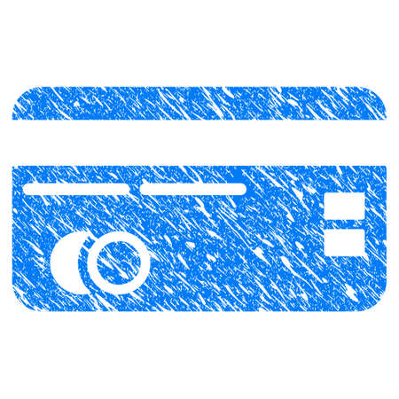 Grunge credit card icon with scratched design and grungy texture.