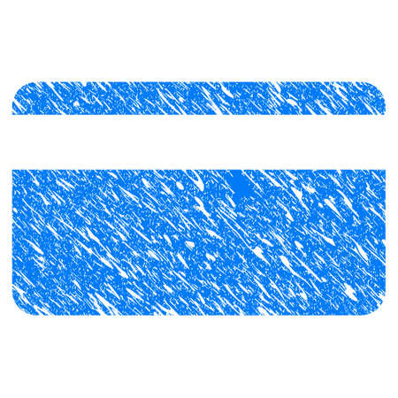 Grunge Plastic Card icon with scratched design and dust texture.