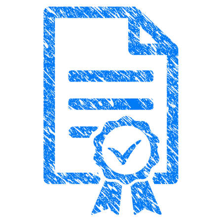 Financial Contract Document Grainy Textured Icon For Overlay Stock