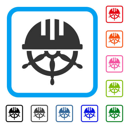 Covered Steering Wheel icon. Flat grey pictogram symbol in a light blue rounded square. Black, gray, green, blue, red, orange color variants of Covered Steering Wheel vector. Çizim