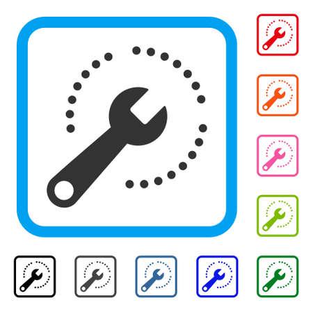 Configure Diagram icon. Illustration