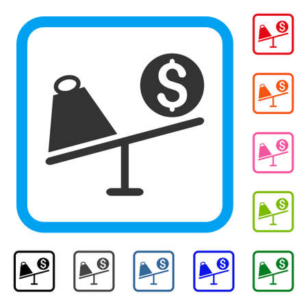 Trade Swing icon. Flat grey pictogram symbol in a light blue rounded frame. Black, gray, green, blue, red, orange color variants of Trade Swing vector. Designed for web and application user interface.