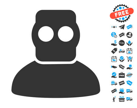 free diver: Diver Armor pictograph with free bonus images. Vector illustration style is flat iconic symbols.