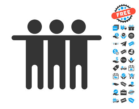 Friendship pictograph with free bonus symbols. Vector illustration style is flat iconic symbols.