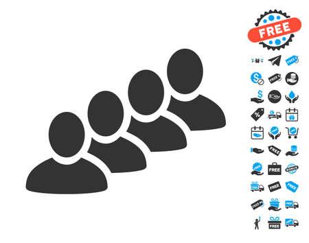 User Queue icon with free bonus images. Illustration