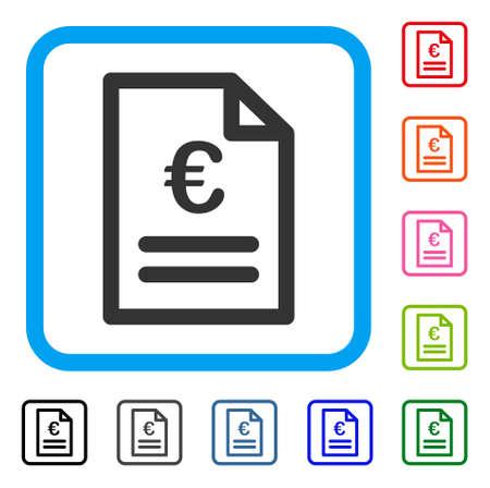 Euro Invoice icon.