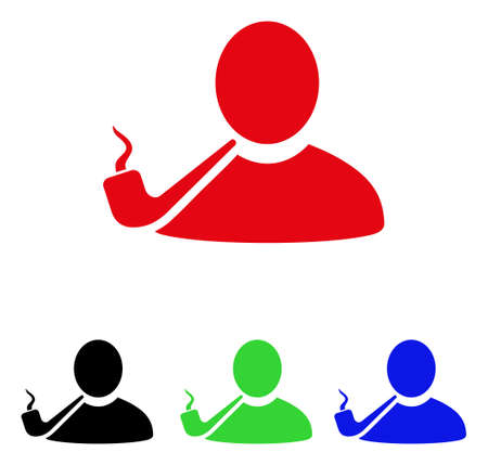 green issue: Pipe Smoker icon. Illustration