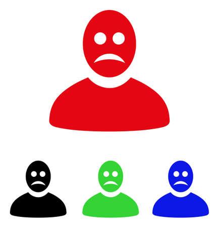 green issue: Sad Person icon. Illustration