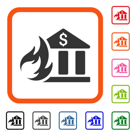 Bank Fire Disaster icon.