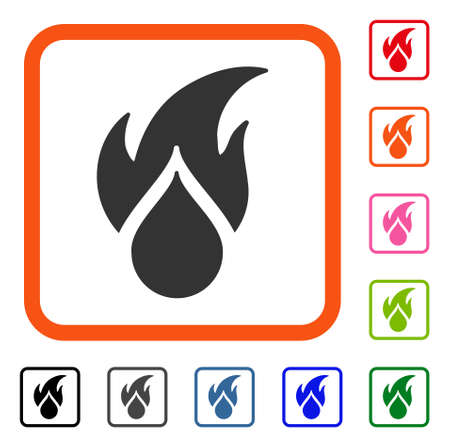 Fired Water Drop icon.