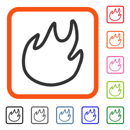 Flame Contour icon.