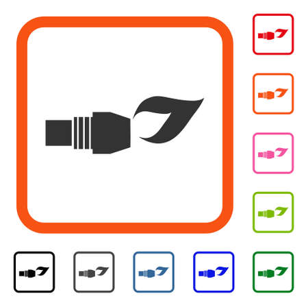 Gas Burner Nozzle Fire icon.
