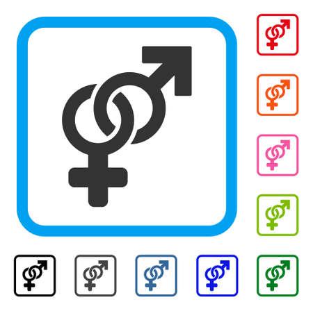 Heterosexual Symbol icon.