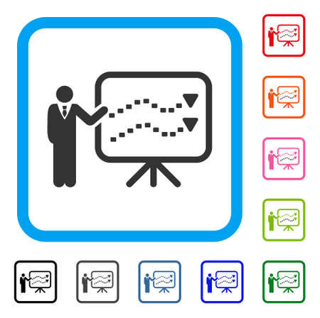 Trends Presentation Teacher icon. Illustration