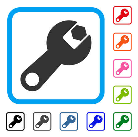 Wrench vector icon.