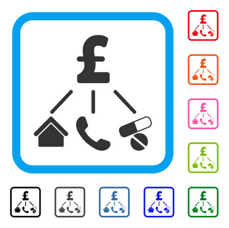 Life Pound Expenses icon. Illustration