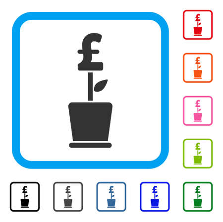 pound business project plant icon royalty free cliparts vectors
