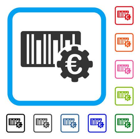 Euro Barcode Setup icon. Stock Vector - 88342551