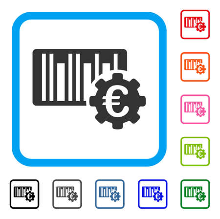 Euro Barcode Setup icon. Illustration