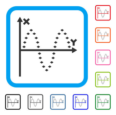 Dotted Plot icon Vetores