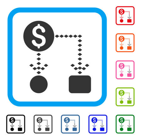 Cash flow Scheme icon Illustration