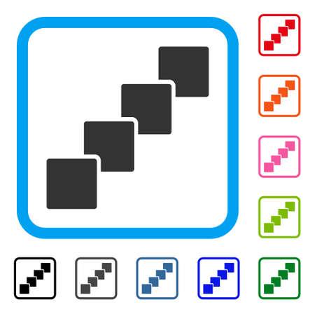 Blockchain icon. Ilustrace