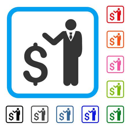 Banker icon Illustration