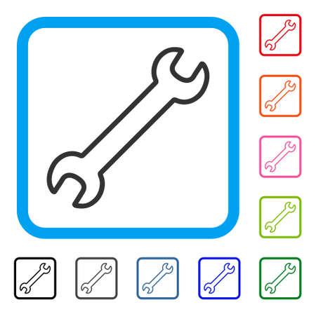 Contour Wrench pictogram Vector Illustratie
