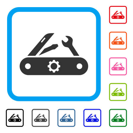 Swiss knife icon. Stock Vector - 88343924