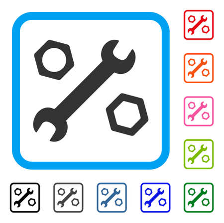 Wrench and nuts icon.