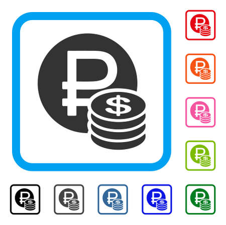 Rouble And Dollar Coins icon.
