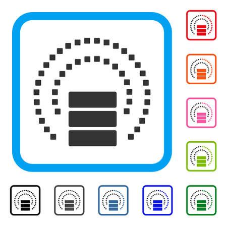 Database Sphere Shield icon.