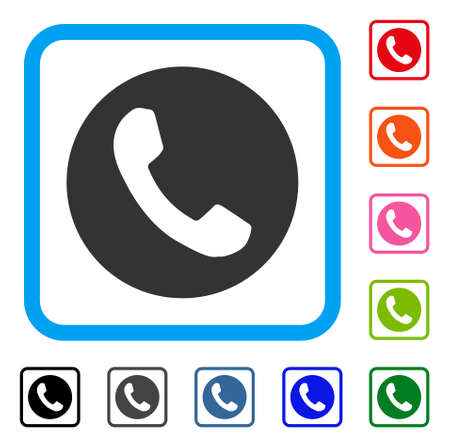 Phone number icon in a light blue rounded rectangular frame.
