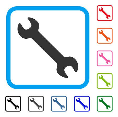 Wrench icon. Illustration