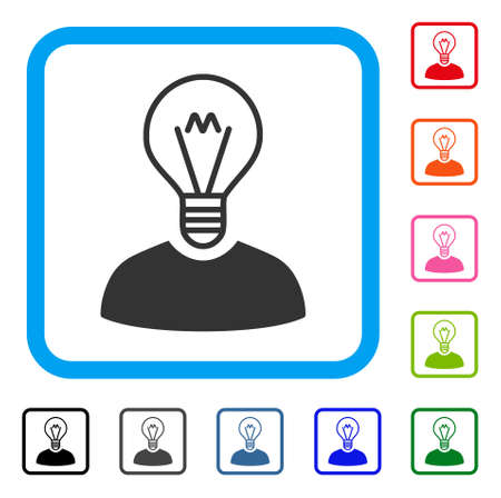 Bulb Inventor icon. Illustration
