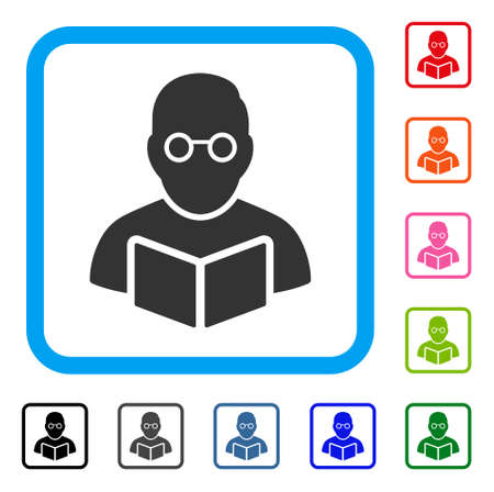 Lehrer mit offenem Buchsymbol Vektorgrafik